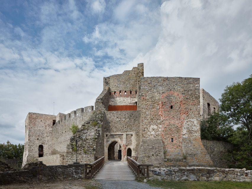 Helfštýn castle in Czech Republic