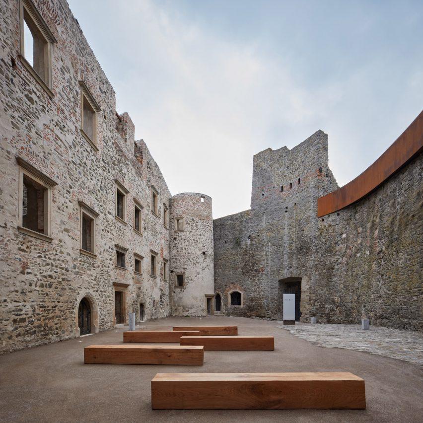 Corten additions to ruins