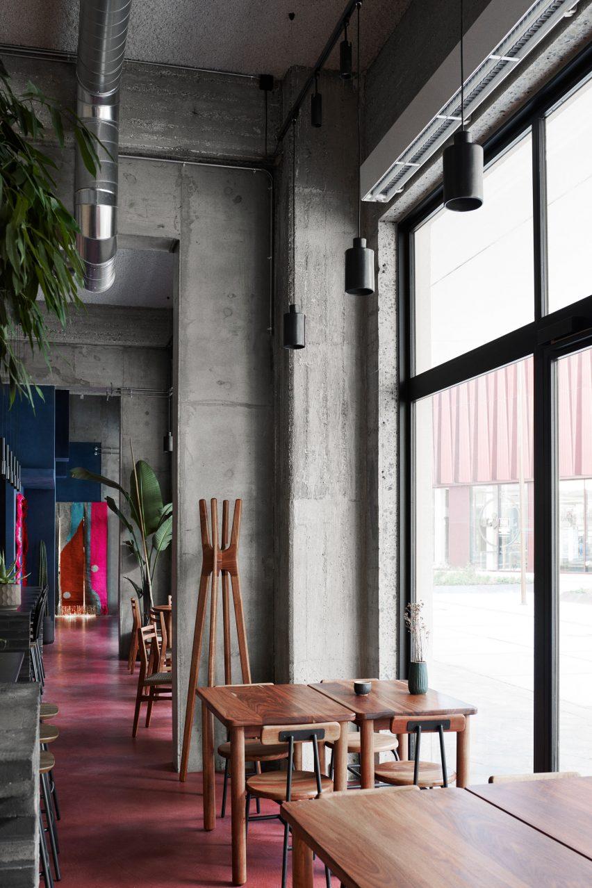 Window seats at Hija de Sanchez Cantina by OEO Studio