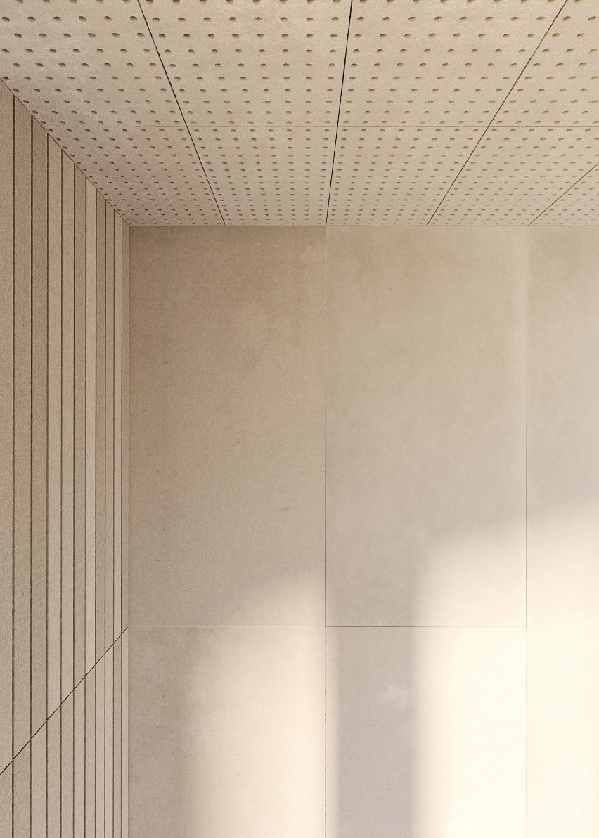 Honext's material can be used in construction for interior partitioning or cladding
