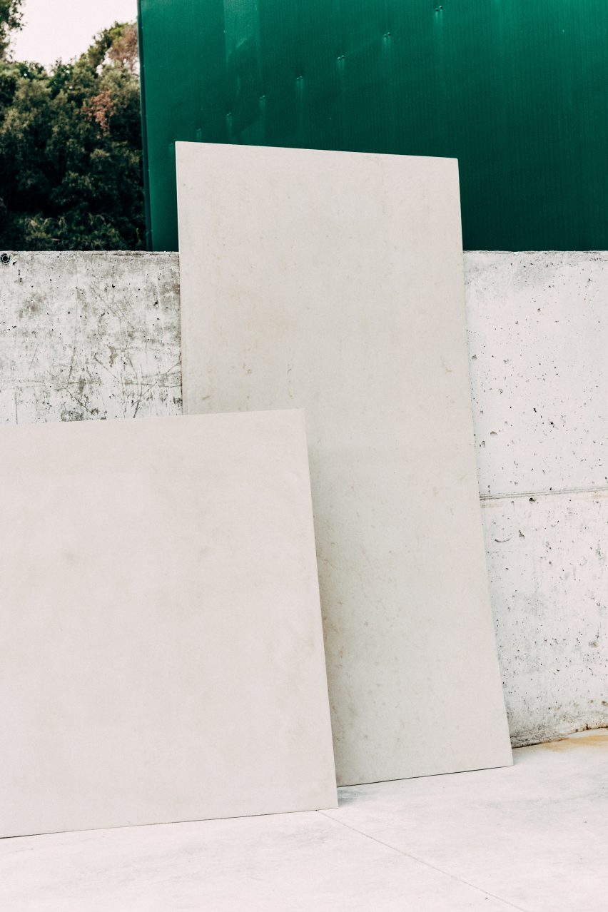 Honext's construction board material is made of cellulose fibres from waste paper