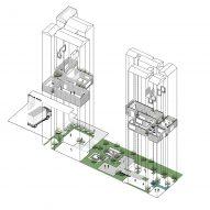 Plan of Aptus Factory Showroom by Hooba Design Group
