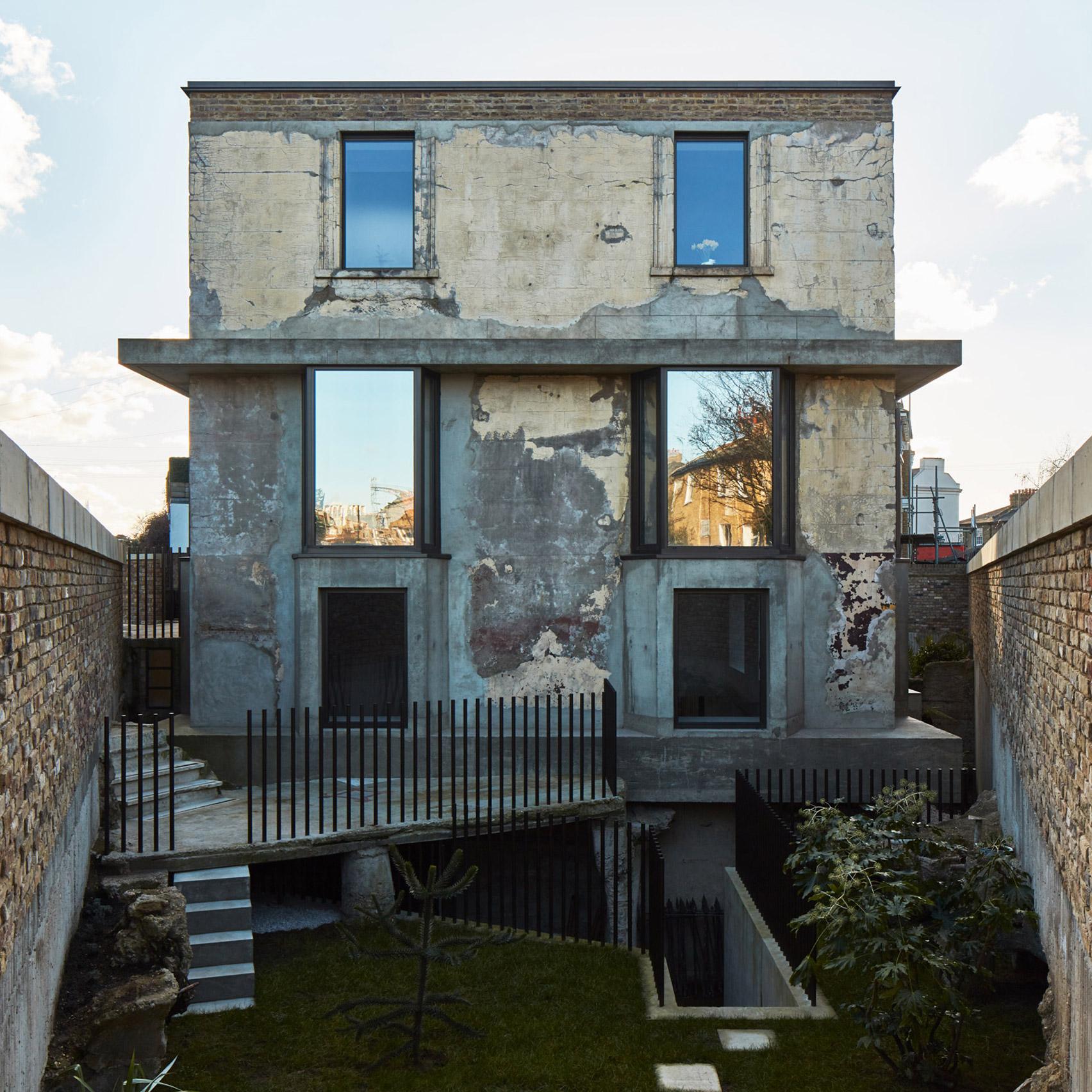 The front facade of Mole House, UK, by Adjaye Associates