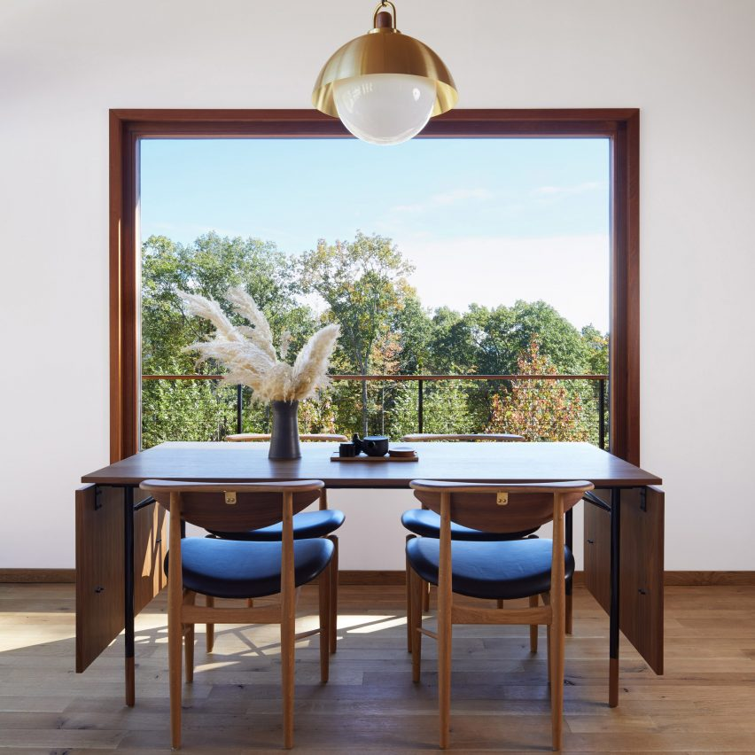 Dining room in Hudson Woods home by Magdalena Keck