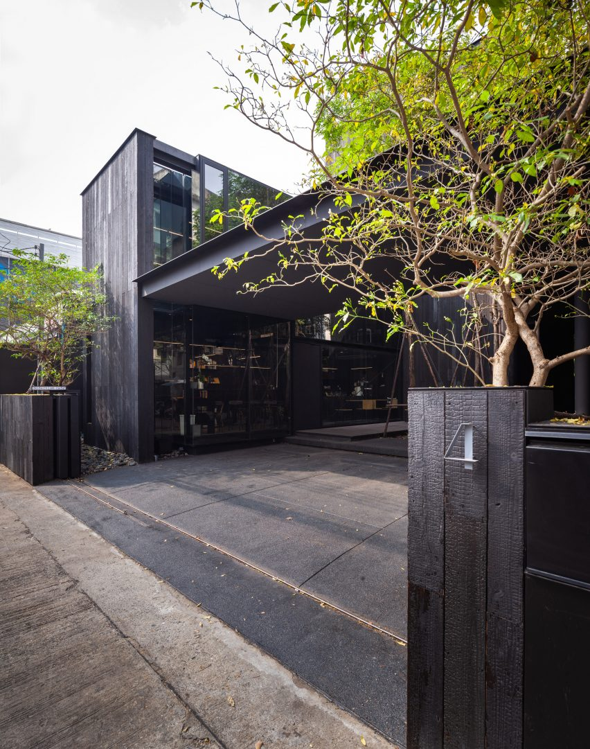 The entrance of IDIN Architects Office in Bangkok, Thailand