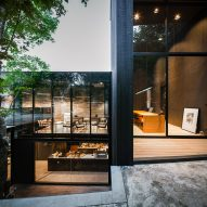 A terrace outside IDIN Architects Office in Bangkok, Thailand