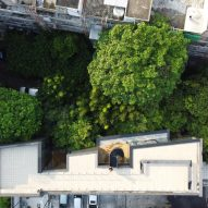 An aerial view of IDIN Architects Office in Bangkok, Thailand