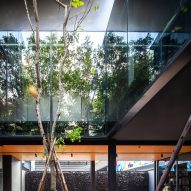 A courtyard outside of IDIN Architects Office in Bangkok, Thailand