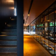 Inside of IDIN Architects Office in Bangkok, Thailand