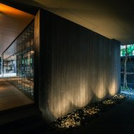 Charred wood outside of IDIN Architects Office in Bangkok, Thailand