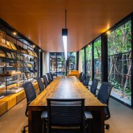 An office inside of IDIN Architects Office in Bangkok, Thailand