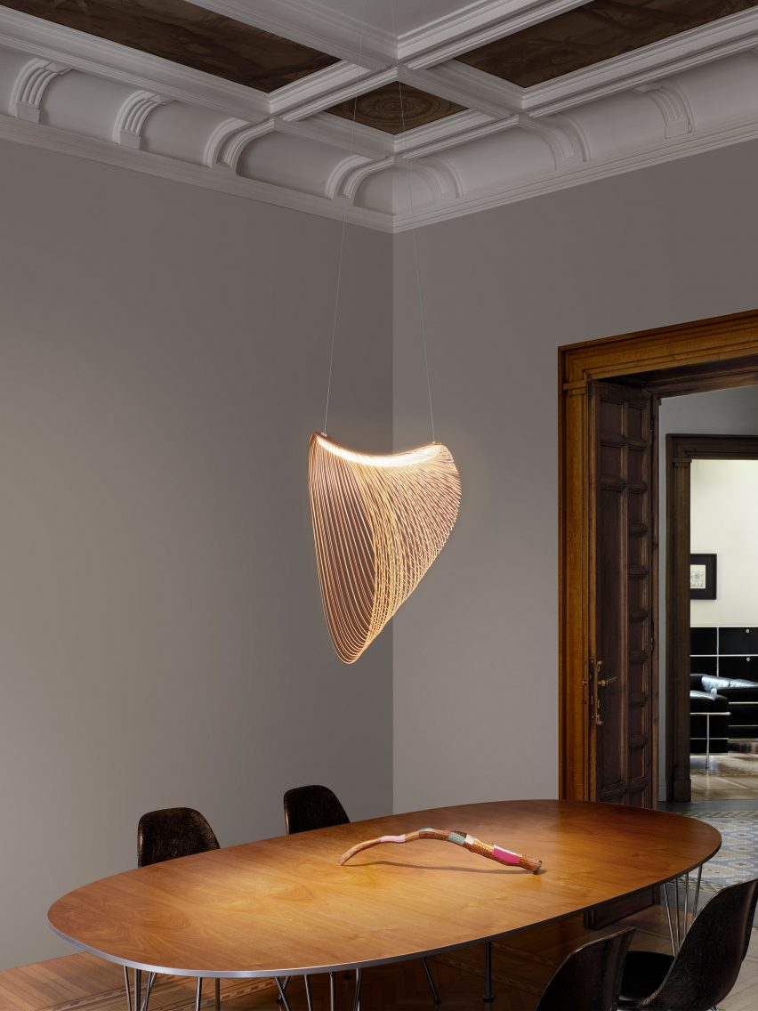 Single Illan Pendant Light in an interior