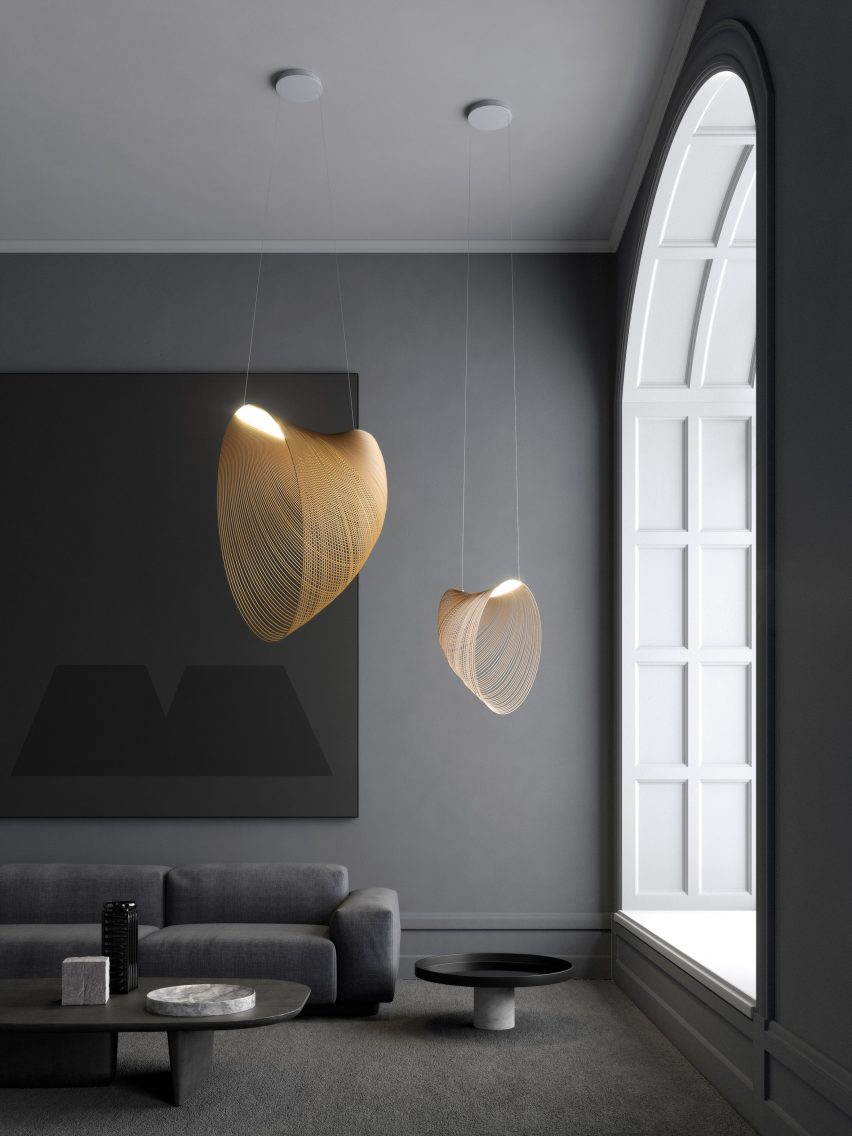 Pair of Illan Pendant Lights designed by Zsuzsanna Horvath