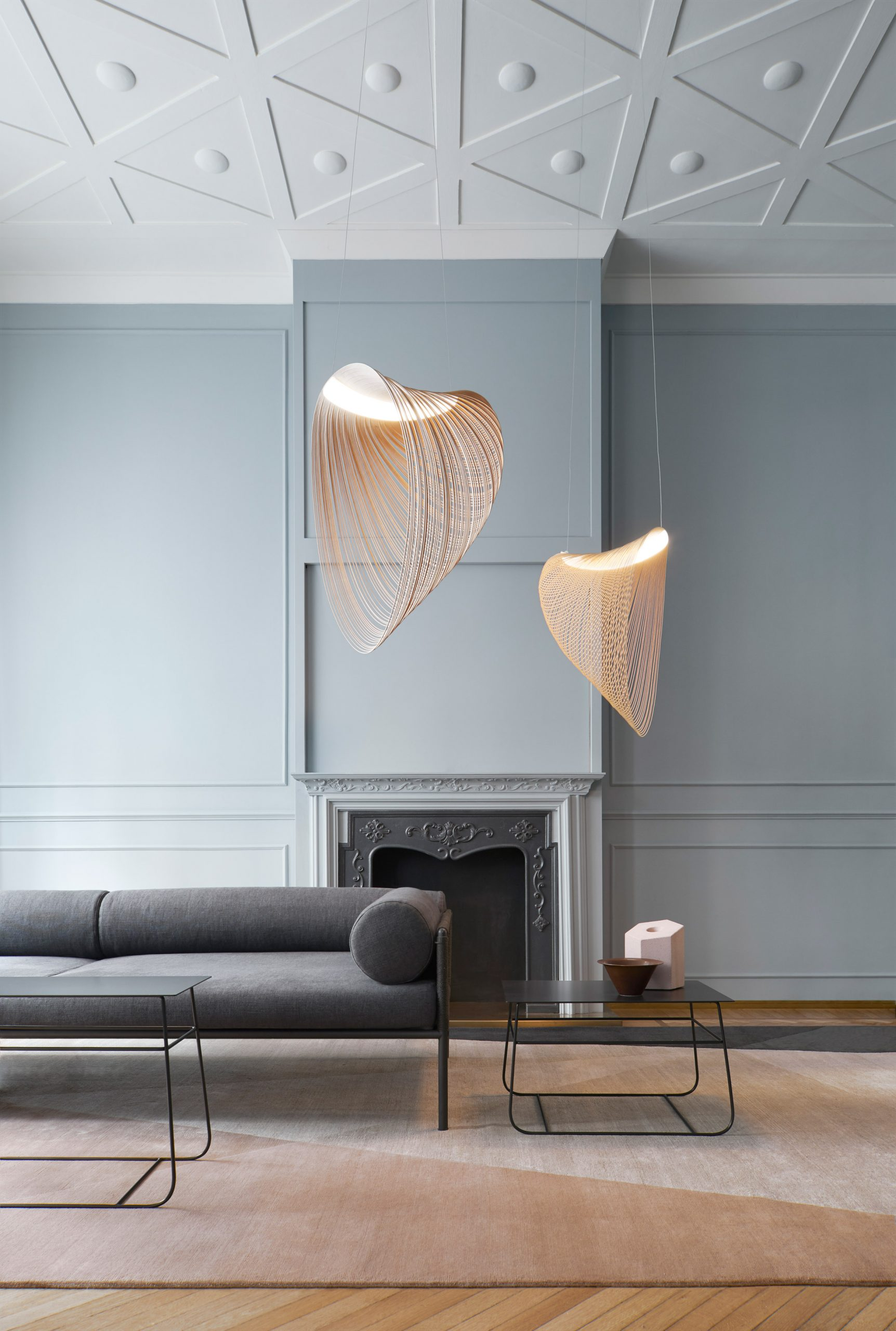 Two Illan Pendant Lights in an interior setting