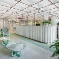 Infinity Wellbeing spa in Bangkok has calming white and green interiors