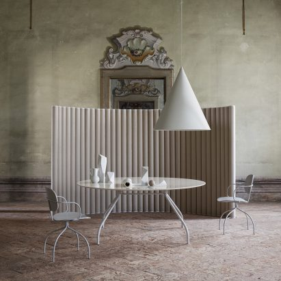 Monforte soundproof partition by Raffaella Mangiarotti for IOC