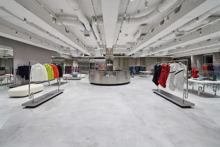 Interior of Issey Miyake Semba store in Osaka