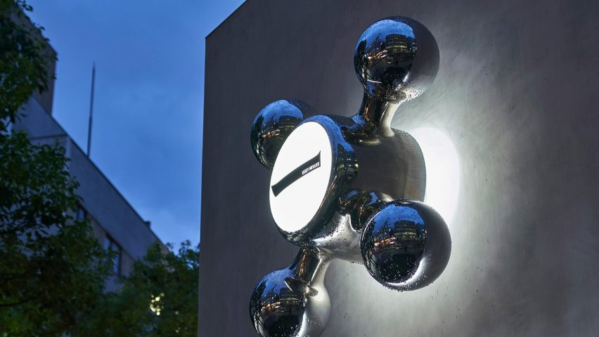 Tap-like sculpture features in Issey Miyake Semba store in Osaka