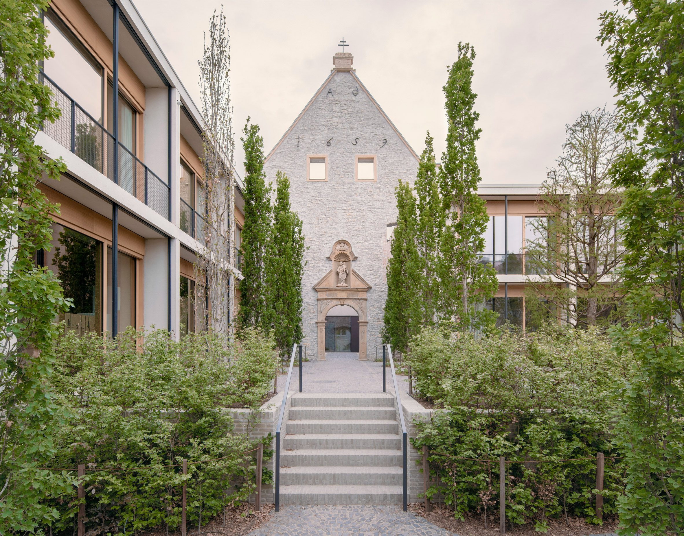 Chapel facade at Jacoby Studios by David Chipperfield Architects