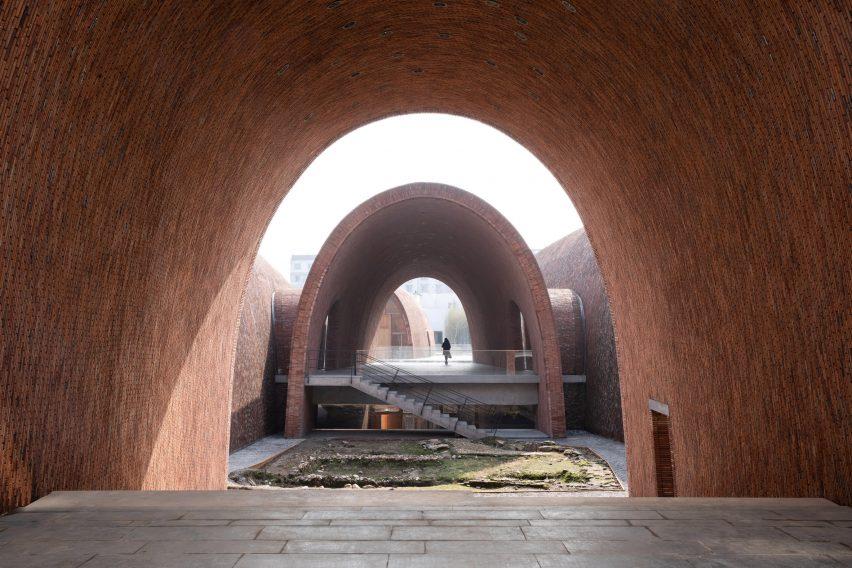 Inside of the Jingdezhen Imperial Kiln Museum by Studio Zhu-Pei