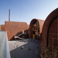 Courtyard of Jingdezhen Imperial Kiln Museum by Studio Zhu-Pei
