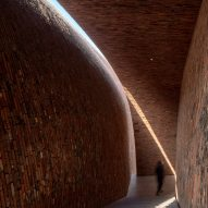 The interior of Jingdezhen Imperial Kiln Museum by Studio Zhu-Pei