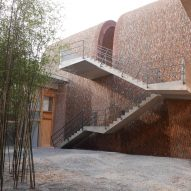 Staircase to galleries of Jingdezhen Imperial Kiln Museum by Studio Zhu-Pei