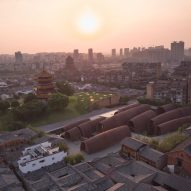 Aerial view of Jingdezhen Imperial Kiln Museum by Studio Zhu-Pei