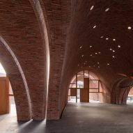 Inside of the Jingdezhen Imperial Kiln Museum by Studio Zhu-Pei