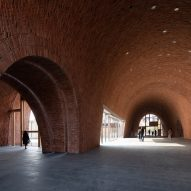 The foyer inside the Jingdezhen Imperial Kiln Museum by Studio Zhu-Pei