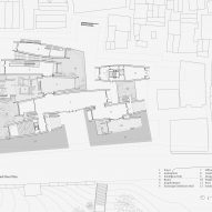 Ground floor plan of Jingdezhen Imperial Kiln Museum by Studio Zhu-Pei