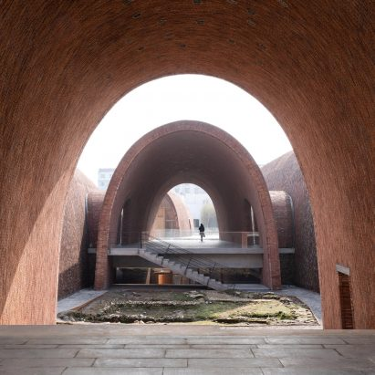 Inside the Jingdezhen Imperial Kiln Museum by Studio Zhu-Pei