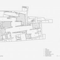 Basement floor plan of Jingdezhen Imperial Kiln Museum by Studio Zhu-Pei