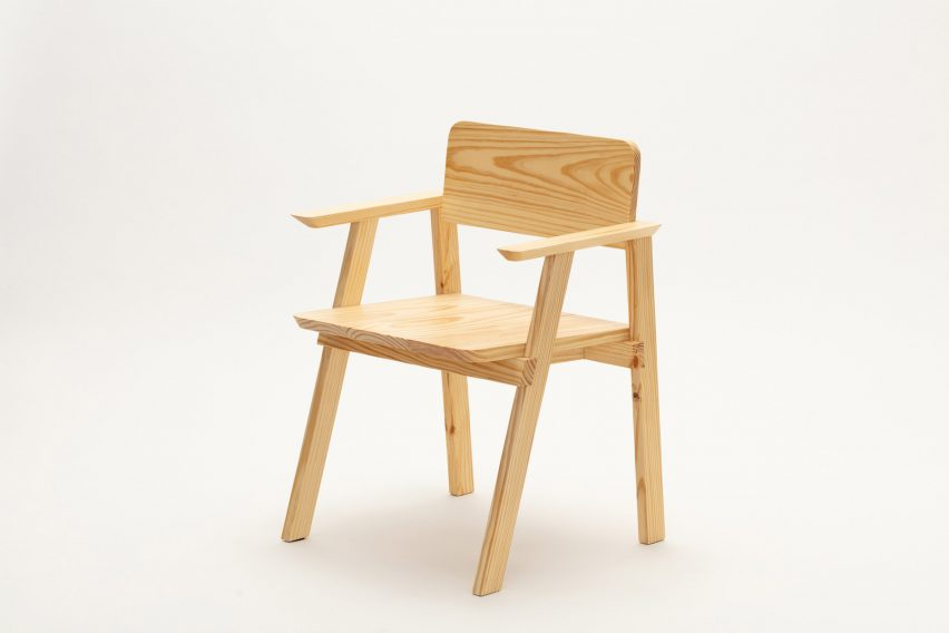 Dining chair with armrests from Jorge Diego Etienne's Tempo collection for Techo