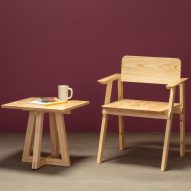 Building material offcuts from affordable housing project used to create Tempo furniture collection