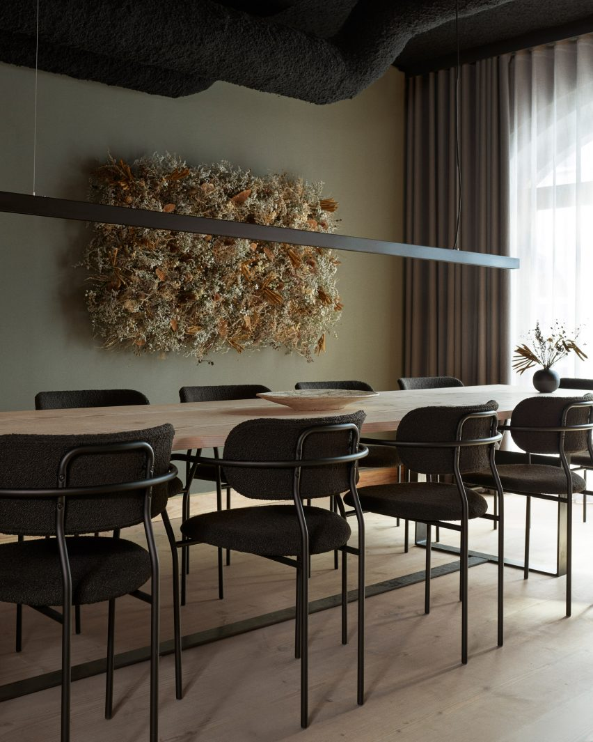 Private dining room in Kadeau Copenhagen by OEO Studio