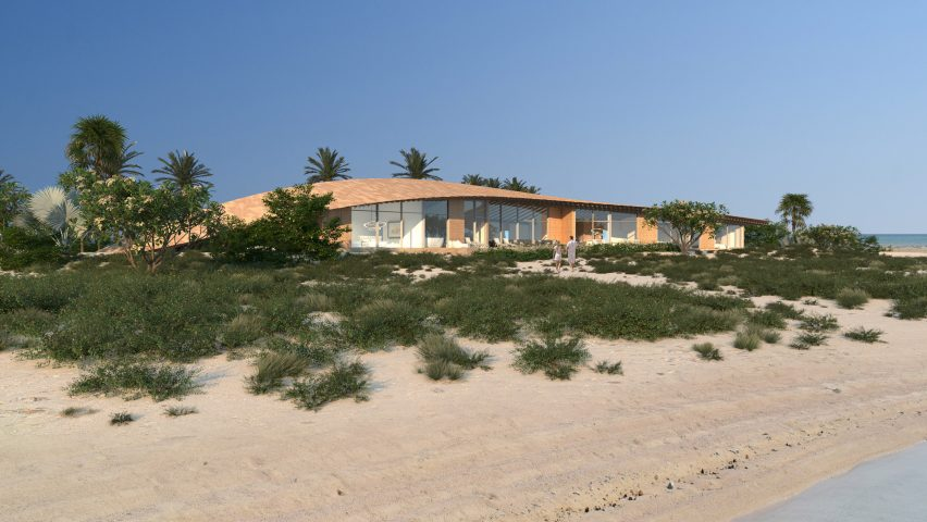 Kengo Kuma island villa for The Red Sea Project