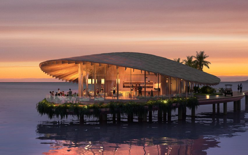 Kengo Kuma's Red Sea restaurant