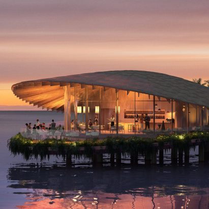 Kengo Kuma water villa for The Red Sea Project