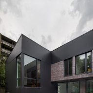 Rear facade of King Edward Residence by Atelier Schwimmer in Montreal, Canada