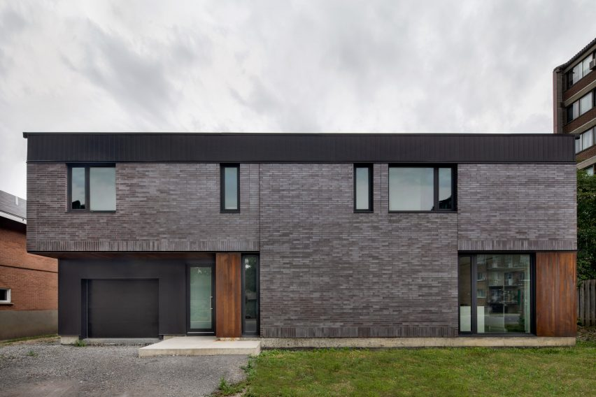 Front facade of King Edward Residence by Atelier Schwimmer in Montreal, Canada