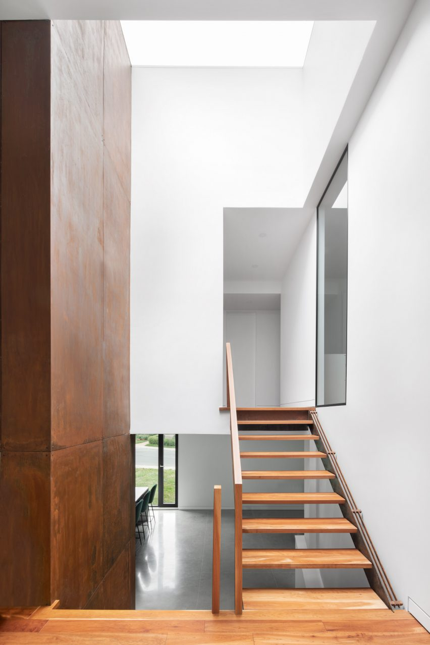 Staircase inside King Edward Residence by Atelier Schwimmer in Montreal, Canada