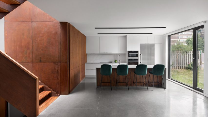 Kitchen of the King Edward Residence by Atelier Schwimmer in Montreal, Canada
