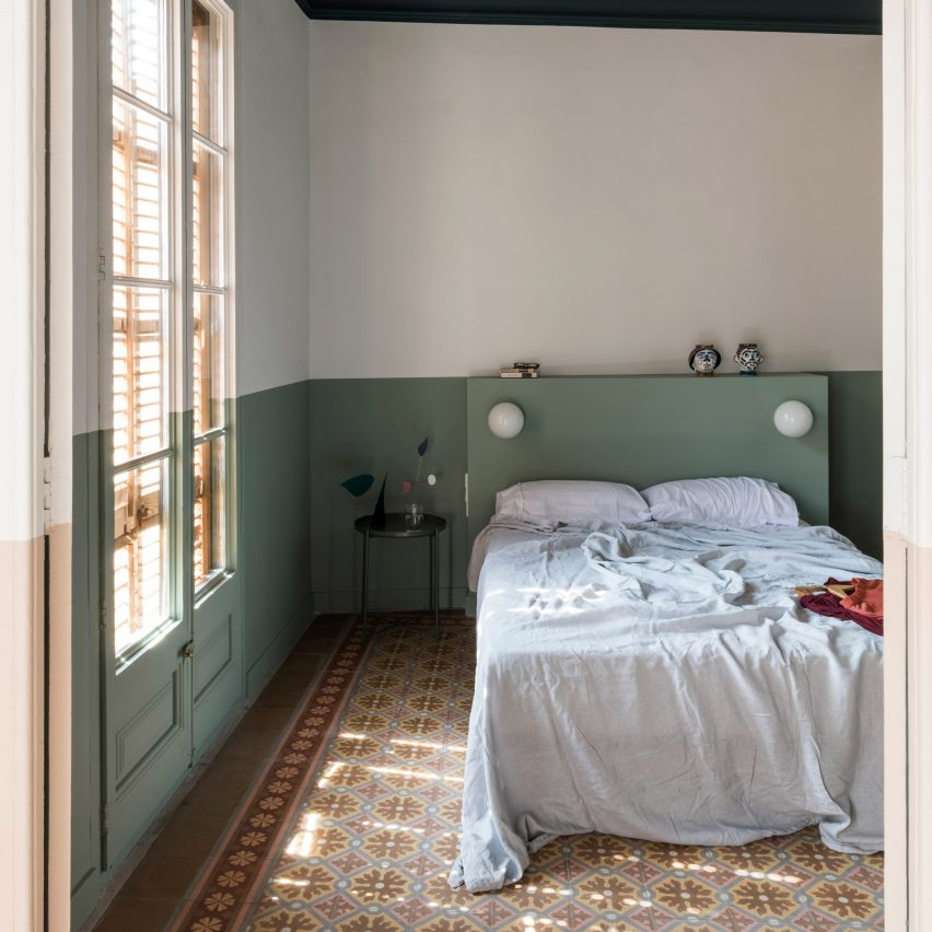 Bedroom in Klinker Apartment, Spain, by Colombo and Serboli Architecture
