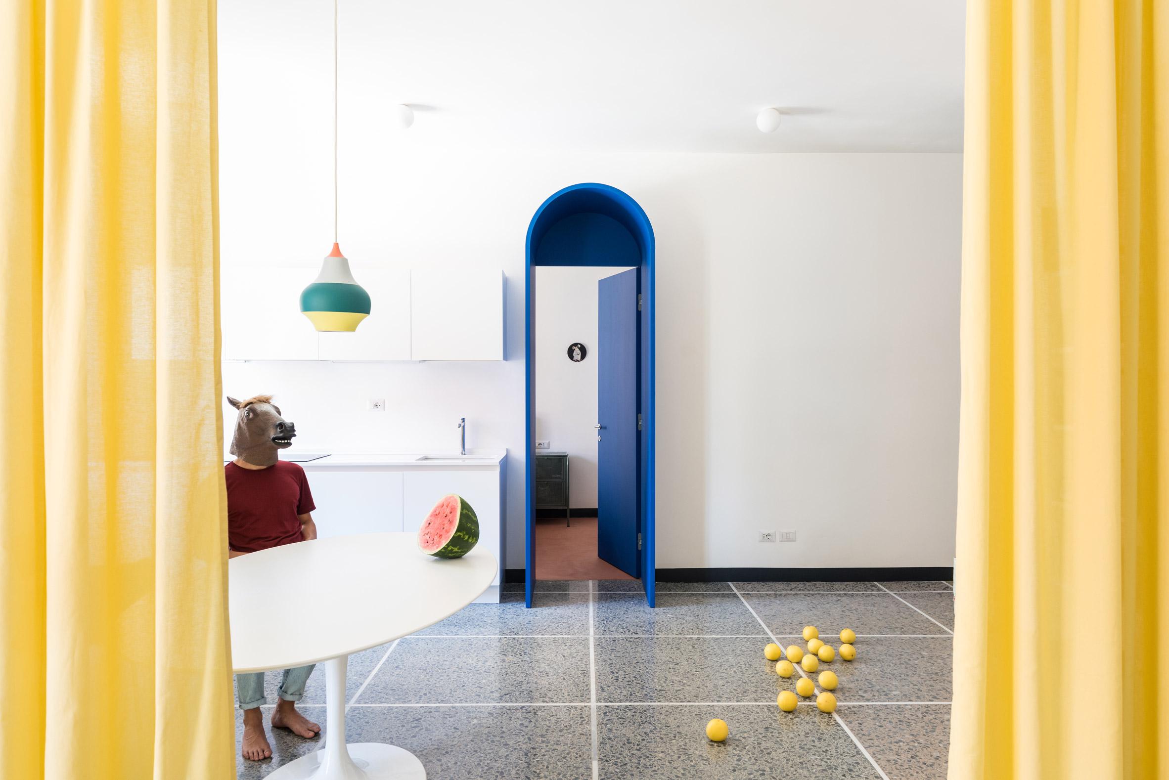 Retroscena Is A Colourful Apartment Renovation By La Macchina Studio