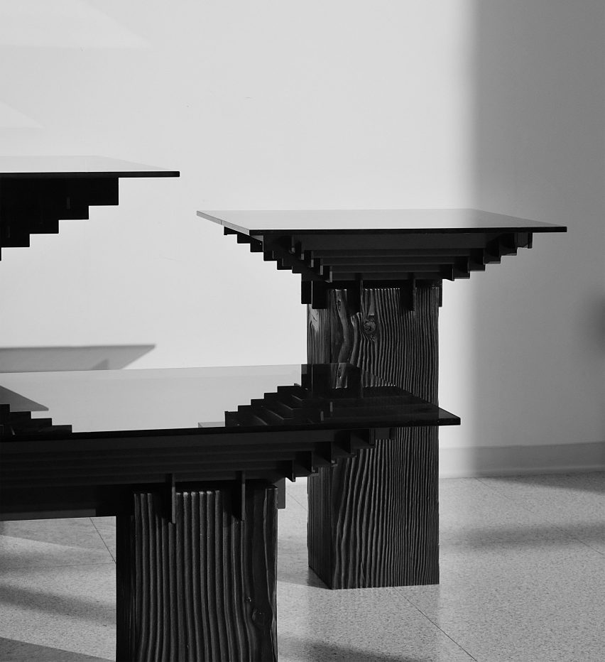 Lin table collection by Studio Shinyoo