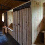 Huo-shui-yuan exhibition centre in Loudi, China has timber interiors