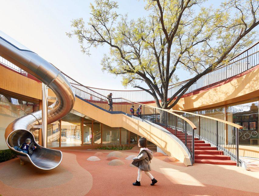 Courtyard in Beijing kindergarten