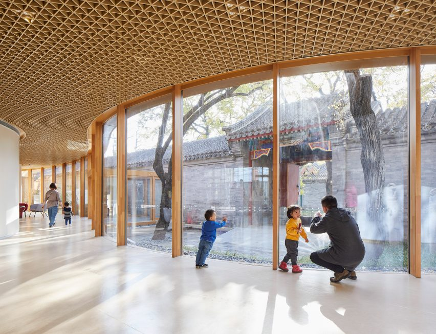 Modern alongside historic at YueCheng Courtyard Kindergarten