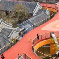 MAD tops Beijing kindergarten with red rooftop playground
